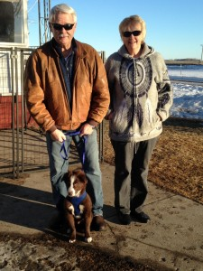 Steve & Kathy with their Aussie pup Bruiser!!